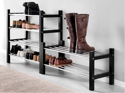 estante para zapatos armario ordenado