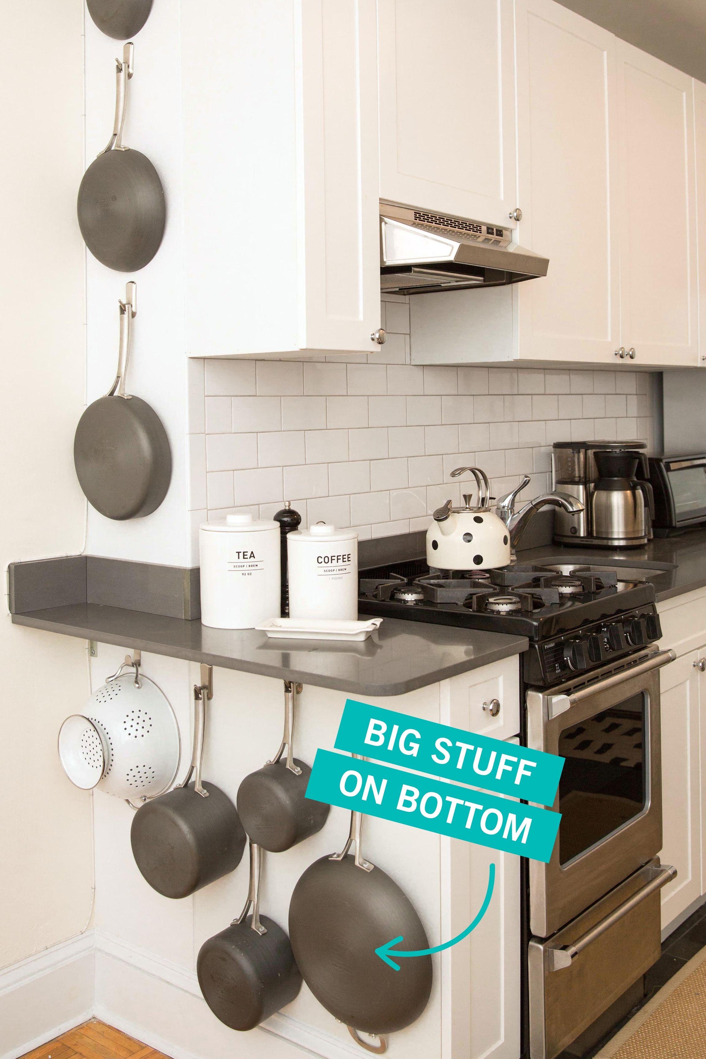 10 soluciones de almacenaje para cocinas pequeñas - Flota