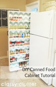 http://www.classyclutter.net/2012/05/build-your-own-extra-storage-diy-canned-food-organizer/