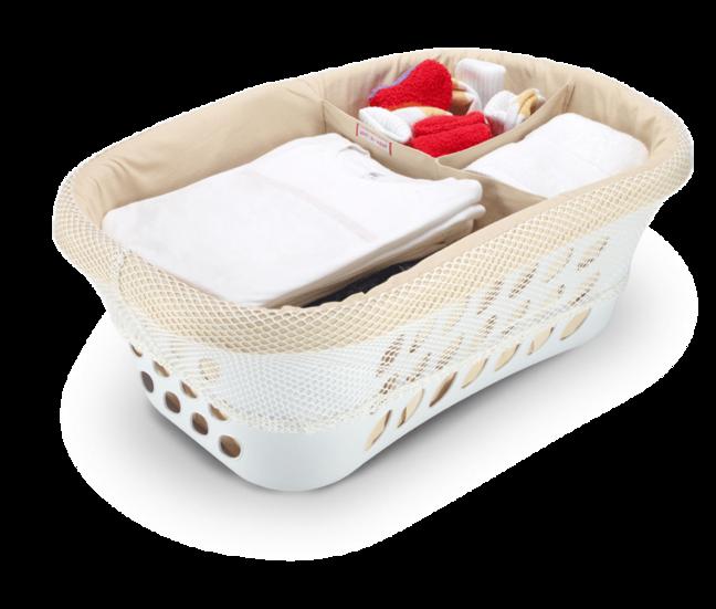 clasificador cesto ropa limpia