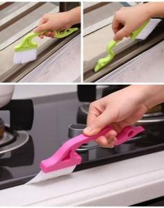 Diez artilugios de limpieza ingeniosos y baratos: cepillo para ranuras